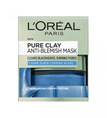 Loreal Paris maska za čiščenje in ožanje por Pure Clay AntiBlemish, 50 ml