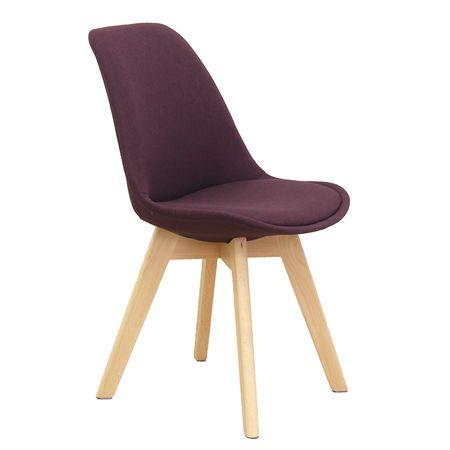 Stolička, fialová/buk, LORITA