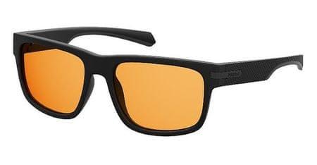 POLAROID sončna očala PLD 2066/S, črna, z rumenimi stekli