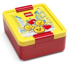 LEGO Iconic girl posoda za malico, rumeno rdeča - Odprta embalaža