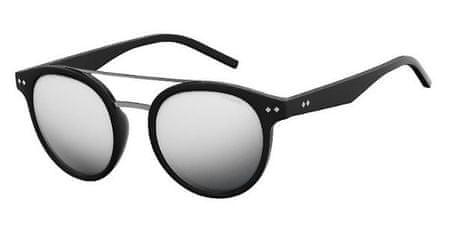 POLAROID sončna očala PLD 6031/S, črna, s srebrnimi stekli