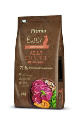 Fitmin pasja hrana Dog Purity GF Adult, govedina, 2 kg