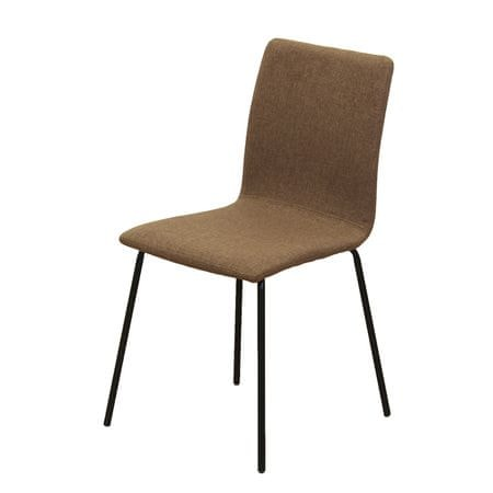 Jedálenská stolička, hnedá/čierna, RENITA