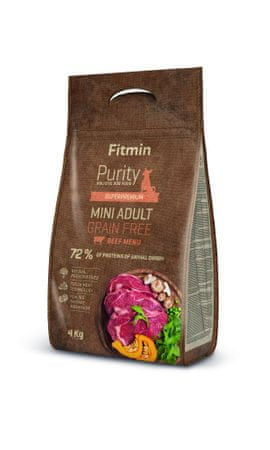 Fitmin pasja hrana Dog Purity GF Adult Mini, govedina, 4 kg