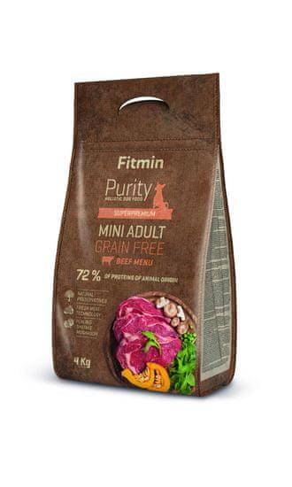 Fitmin pasja hrana Dog Purity GF Adult Mini, govedina, 4 kg