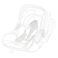 KIDDY Becool letní potah novorozenecký pro Evolution2 nebo Evo Luna I-size