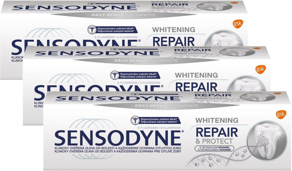 Sensodyne Zubní pasta Repair&Protect Whitening 75 ml 3 ks