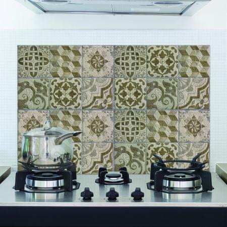 Crearreda kuhinjska zaščitna dekoracija Azulejos, 47 x 65 cm, bež