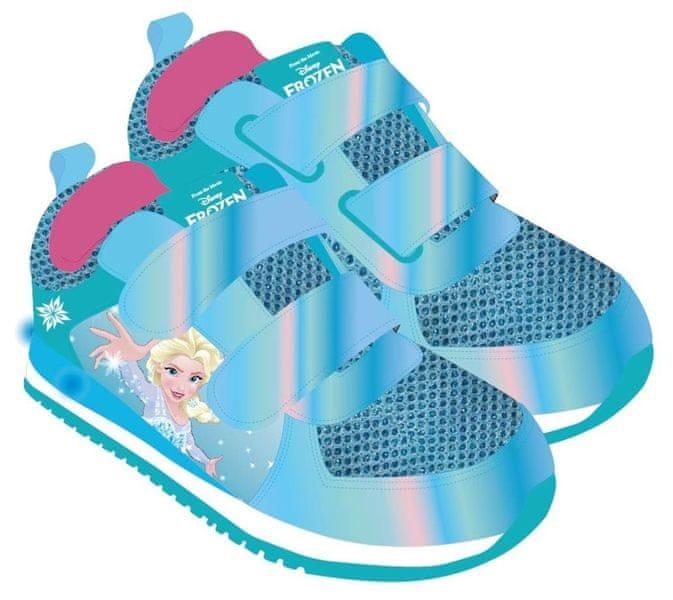Disney dívčí svítící tenisky Frozen 24 modrá