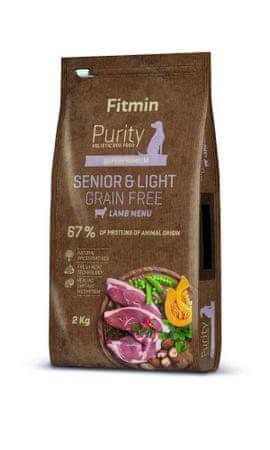 Fitmin hrana za pse Dog Purity GF Senior & Light Lamb, janjetina, 2 kg