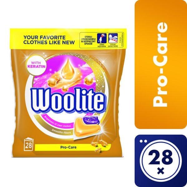 Woolite gelové kapsle Pro-Care 28 ks