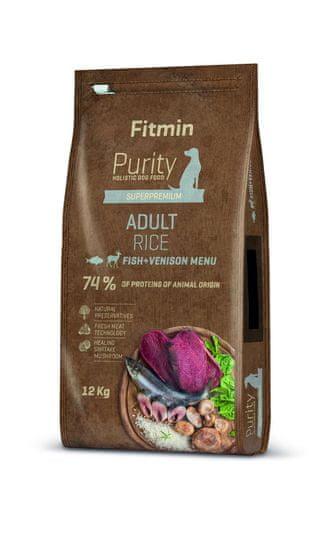 Fitmin sucha karma dla psa Dog Purity Rice Adult Fish & Venison 12 kg
