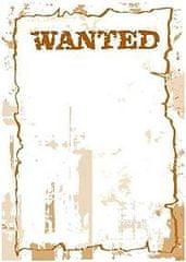 Crearreda stenska dekorativna nalepka, tabla Wanted (43401)