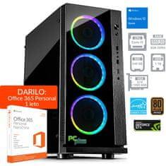 PCplus gaming namizni računalnik Gamer i5-8400/8GB/SSD240GB+1TB/GTX1060/W10H + 1 leto Office 365 Personal