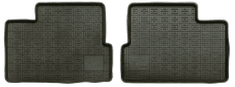 POLGUM Gumové koberce, zadní, 2 ks, černé, 39 x 51,5 cm, pro vozy typu BMW, Citroën, Daewoo, Daihatsu, Hyundai a další