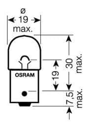 Osram Žárovka typ R10W, 12V, 10W, Standard