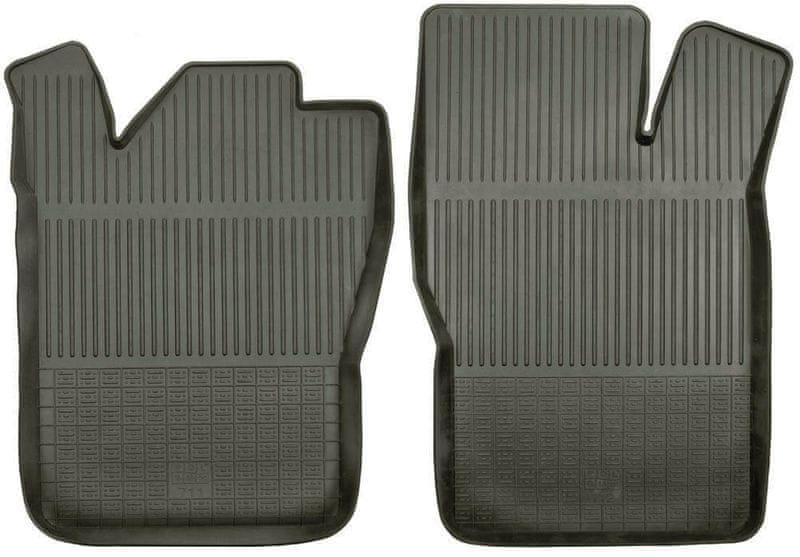 POLGUM Gumové koberce, přední, 2 ks, černé, pro vozy typu Citroen, Daewoo, Fiat, Opel, Peugeot, Volvo a další