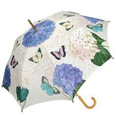 Blooming Brollies Dámský holový deštník Coynes Butterfly and Flower Stick COSBYF