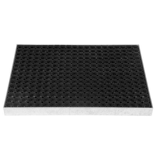 FLOMA Čistící venkovní vstupní rohož ze svařovaných podlahových roštů s gumou bez pracen Galva - 6 cm