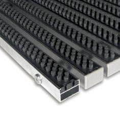 FLOMAT Šedá hliníková kartáčová venkovní vstupní rohož Alu Super, FLOMAT - 2,2 cm