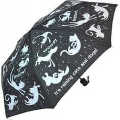 Blooming Brollies Dámský skládací mechanický deštník Everyday Raining Cats & Dogs EDFRCD