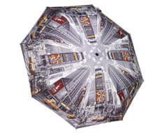 Blooming Brollies Dámský skládací plně automatický deštník Times Square GCFTS