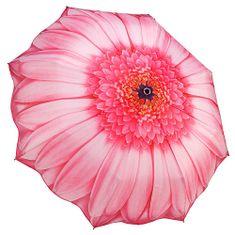 Blooming Brollies Dámský skládací plně automatický deštník Pink Daisy GFFPID