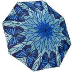 Blooming Brollies Dámský deštník Butterfly stained glass themed folding style