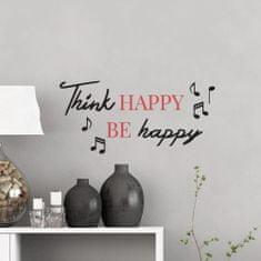 Crearreda stenski dekorativni napis, Think Happy 2/1 (62518)