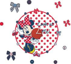 Graham & Brown stenska dekorativna nalepka, Minnie Mouse ura, rdeča