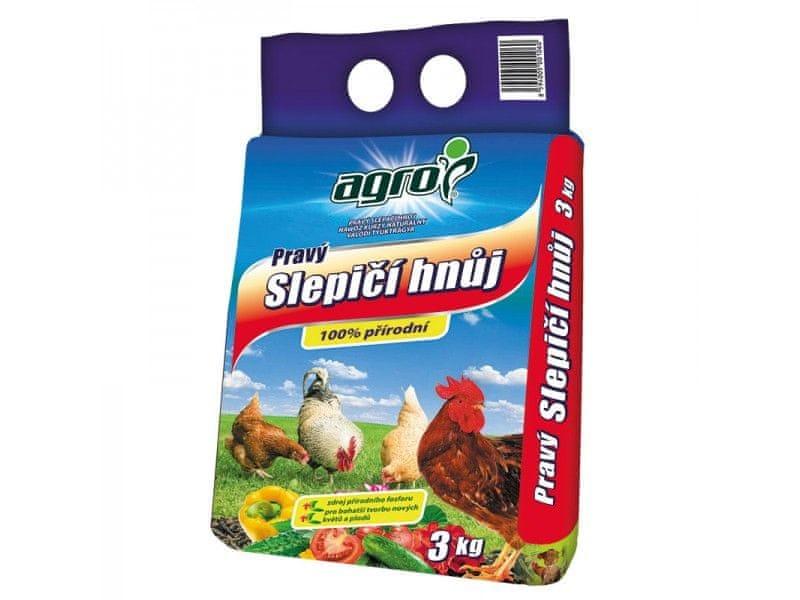 AGRO CS Pravý slepičí hnůj 3 kg