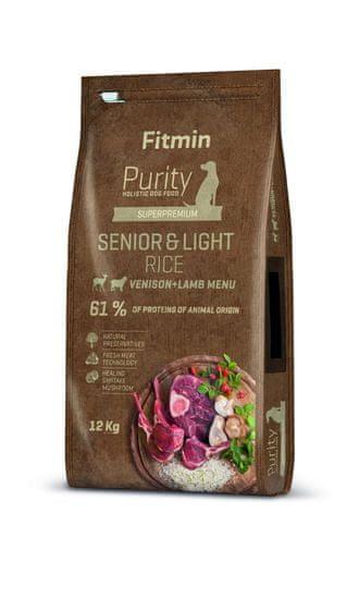 Fitmin hrana za pse Dog Purity Rice Senior & Light Venison & Lamb, 12 kg