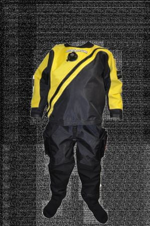 Oblek trilaminátový SOLO LIGHT - barva dle výběru, Dive system, žlutá, M Plus