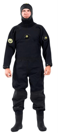 VIKING TRELLEBORG Oblek suchý VSN - zadní zip s latexovou kuklou, Viking, LGE