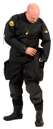VIKING TRELLEBORG Oblek suchý VTS CORDURA - zadní zip s latexovou kuklou, Viking, SML