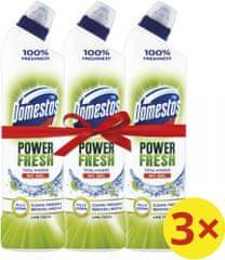 Domestos Total Hygiene Lime Fresh WC gel 3x 700 ml
