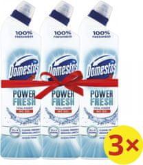 Domestos Total Hygiene Ocean Fresh WC gel 3x 700 ml