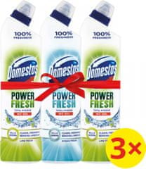 Domestos Total Hygiene Lime Fresh WC gel 2x 700 ml + Ocean Fresh 750 ml