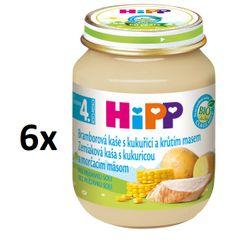 HiPP Brambory a kukuřice s krůtím masem - 6 x 125g