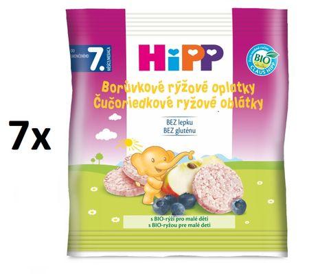 HiPP BIO Čučoriedkové ryžové oplátky - 7x30g
