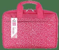 Trust Bari 13.3'' torba na laptop, różowe serca