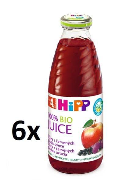 HiPP BIO Šťáva z červených plodů - 6x0,5l