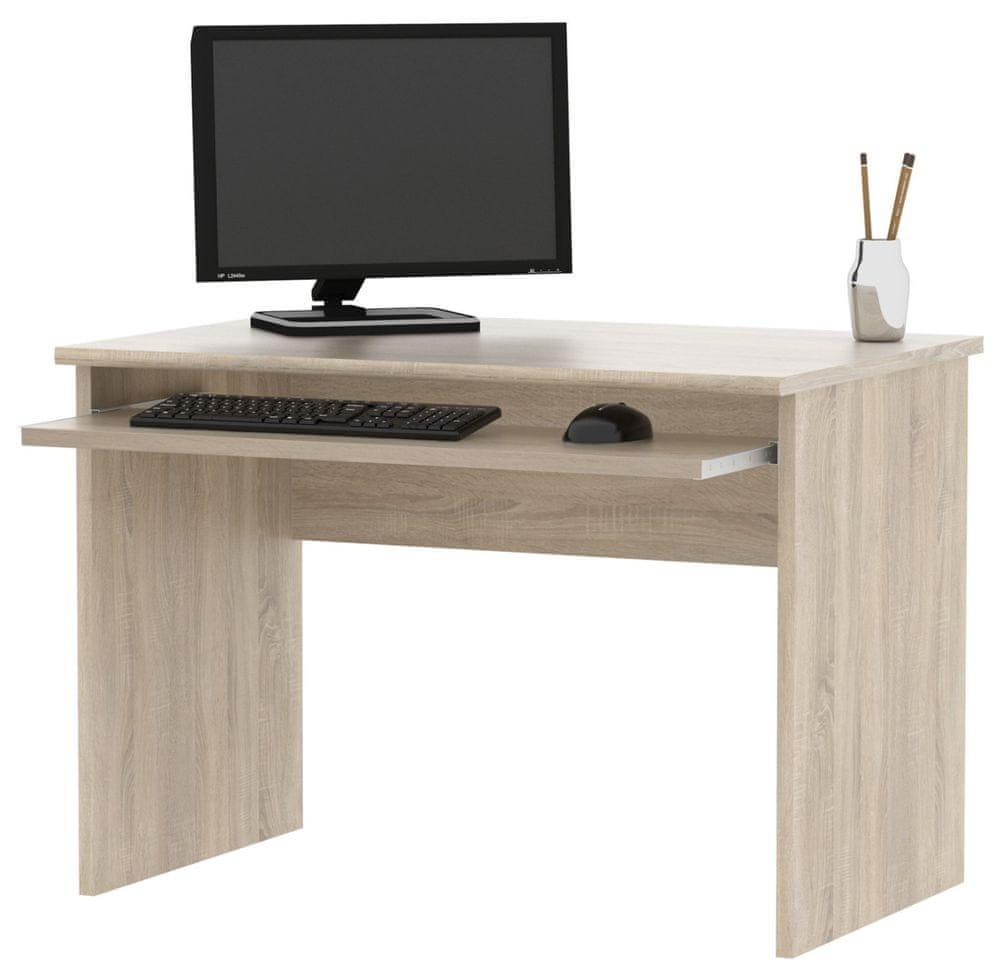 Kancelářský PC stůl GIANNI, dub sonoma