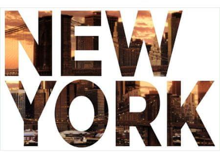 Dimex Dekoračné nápisy Newyork, 65 x 100 cm