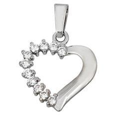 Brilio Přívěsek srdce s krystaly 249 001 00351 07 - 1,45 g zlato bílé 585/1000