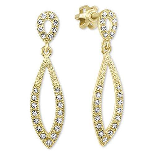 Brilio Dámské zlaté náušnice s čirými krystaly 239 001 00876 - 2,45 g zlato žluté 585/1000