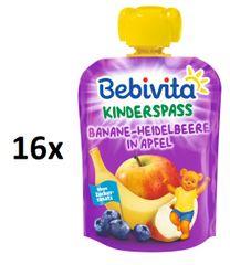 Bebivita Ovocná kapsička - Jablko, banán, borůvky - 16×90g