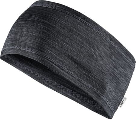 Craft traka za glavu Melange Jersey Black, crna
