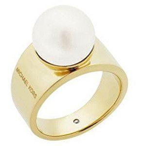 Michael Kors Damski pierścionek z perełką MKJ6671710 (obwód 57 mm)