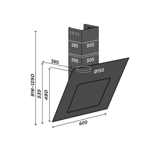 Concept OPK5360wh komínová digestoř